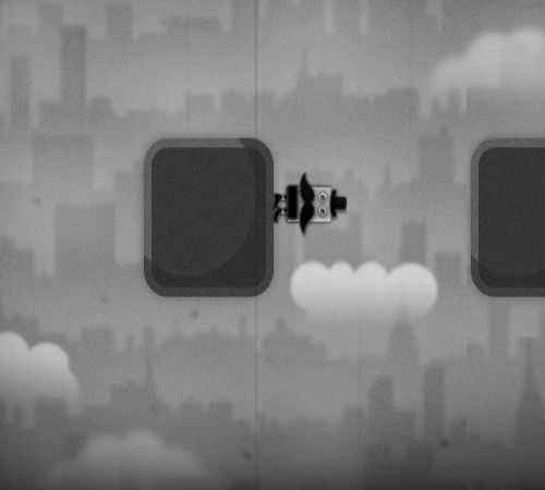 The coolest and cutest Jump-n-Run game around - Gravity Gentleman. Love his mustache!