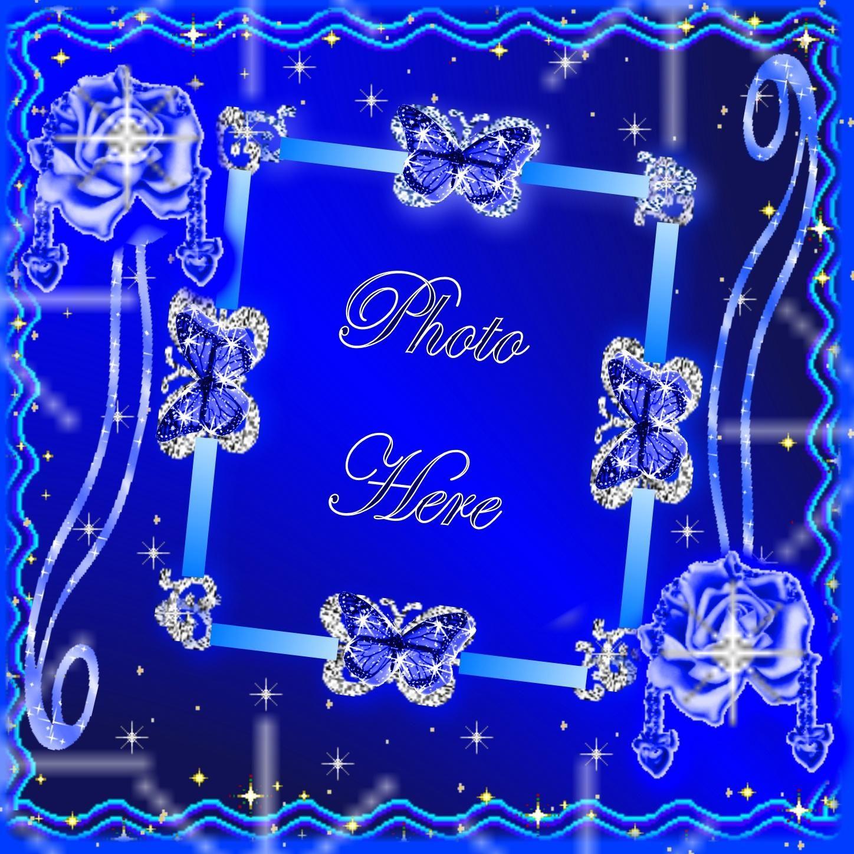 Blue picture frames