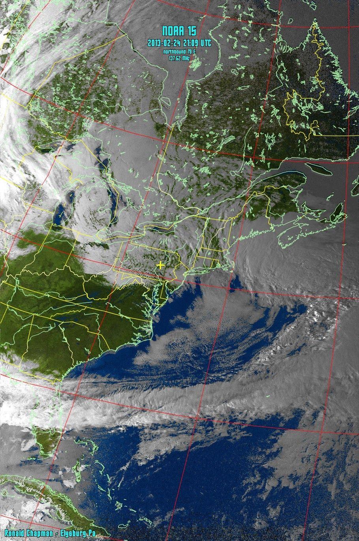 02242013 NOAA 15 APT Satellite single pass. Weather
