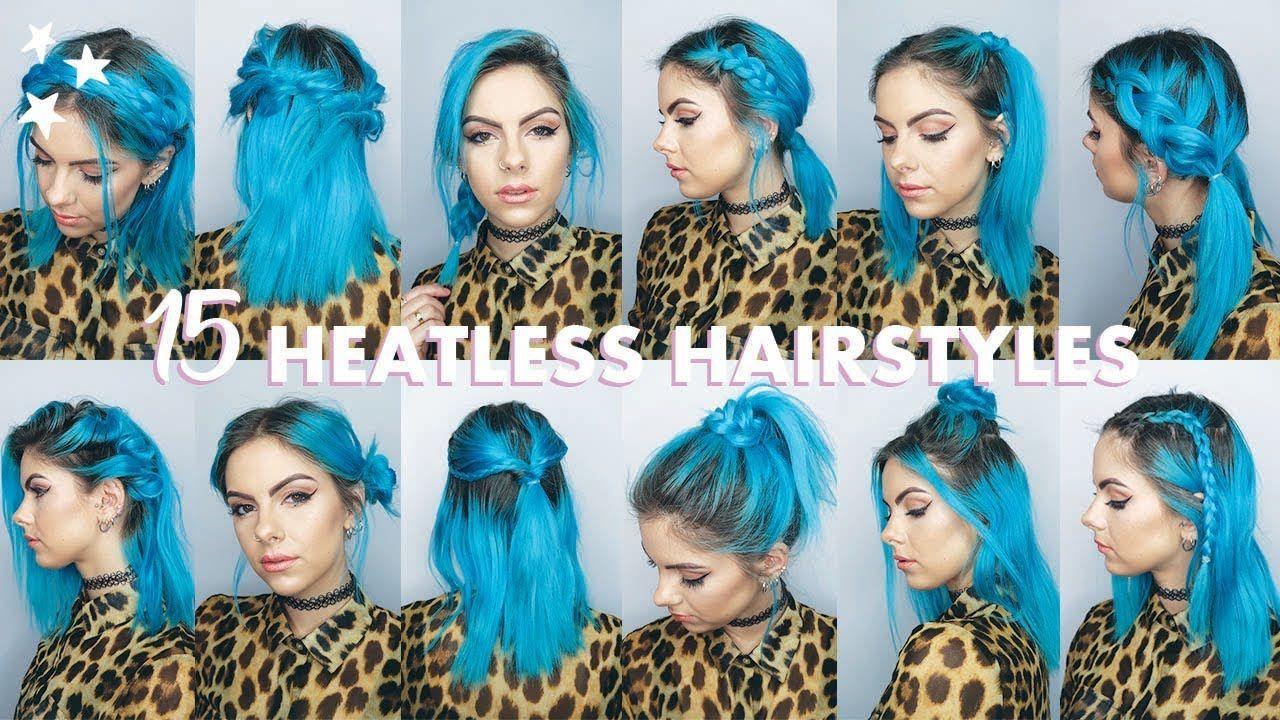 quick u easy heatless hairstyles for short hair peinados