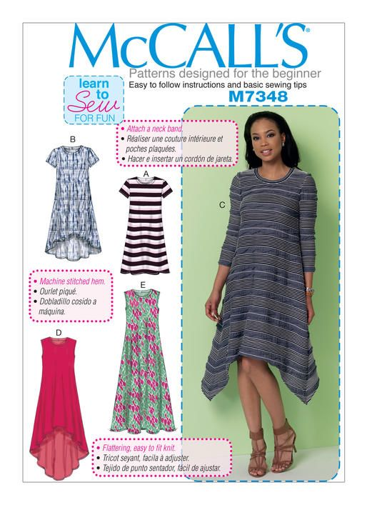 M7348 | McCall\'s Patterns | Plus Size Modest | Pinterest | Schnittmuster