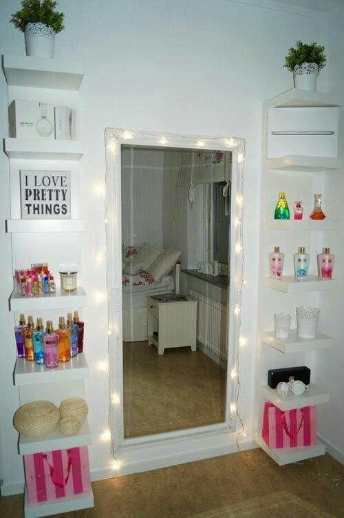 Ideas Para Decorar Tu Depa Cuando Te Vayas A Vivir Sola Full - Bedroom mirrors with lights around them