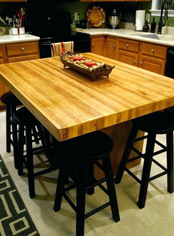 13 Kitchen Island Dining Table Ideas How To Make The Kitchen Island Dining Table With Images Diy Butcher Block Countertops Butcher Block Countertops Island Diy Kitchen Island