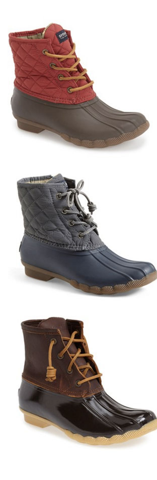 Love these Sperry rain boots - zip up