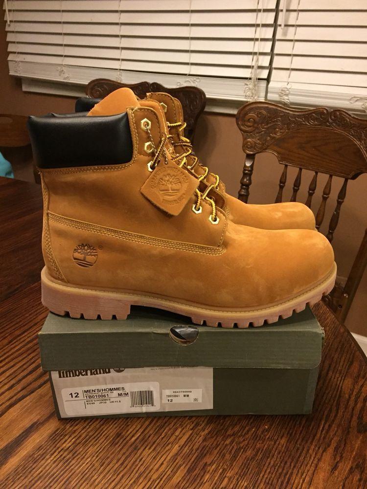 2a378f09173 New Box Timberland 6 inch Premium Waterproof Mens Wheat Boots M size ...