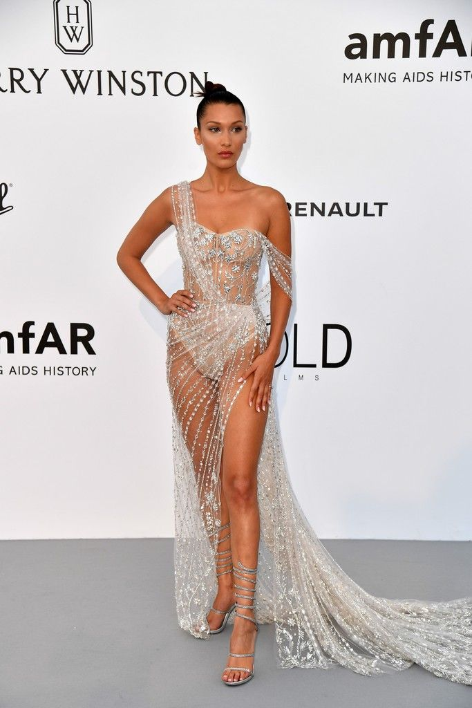 03baed5aa693 Bella Hadid in Ralph   Russo at the Cannes amfAR Gala - The Most Daring Red  Carpet Gowns of 2017 - Photos