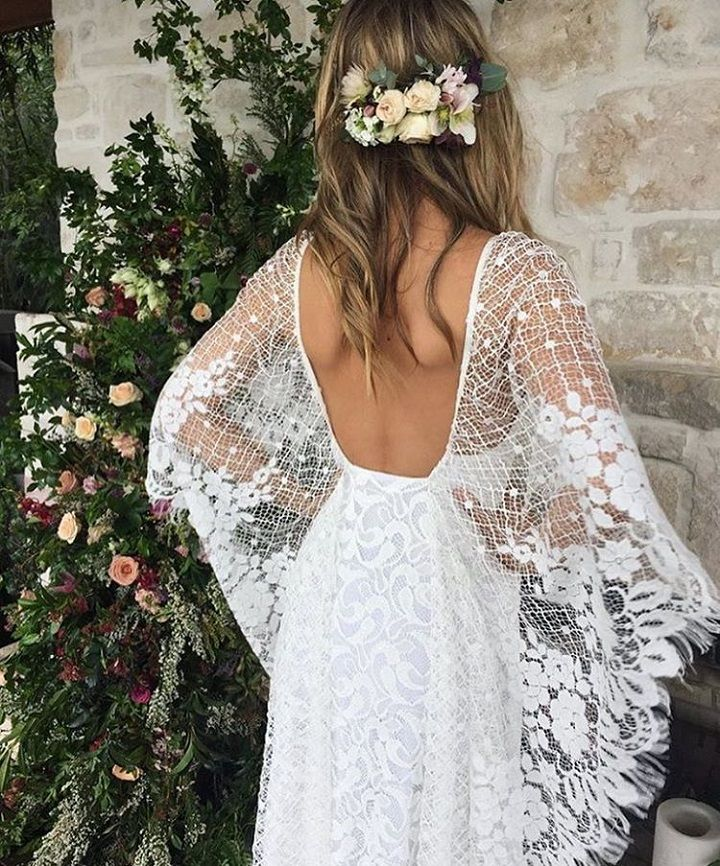 Boho wedding dress #boho #bohemianweddingdress #weddingdress