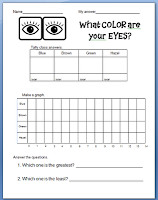 Here Is The Graph For This Week This Should Be Fun Getting 1st Graders To Figure Out What Color Eyes They Have We Are Color Graphing Graphing Preschool Songs