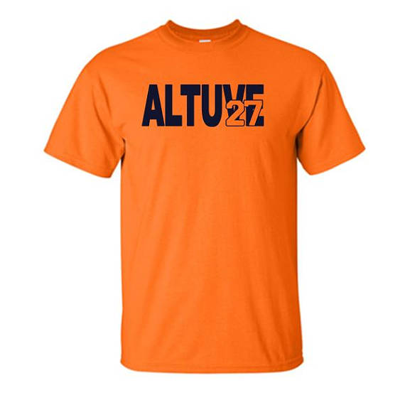 purchase cheap 79735 ce43b Jose Altuve 27 Houston Astros T shirt | Go 'Stros! | Astros ...