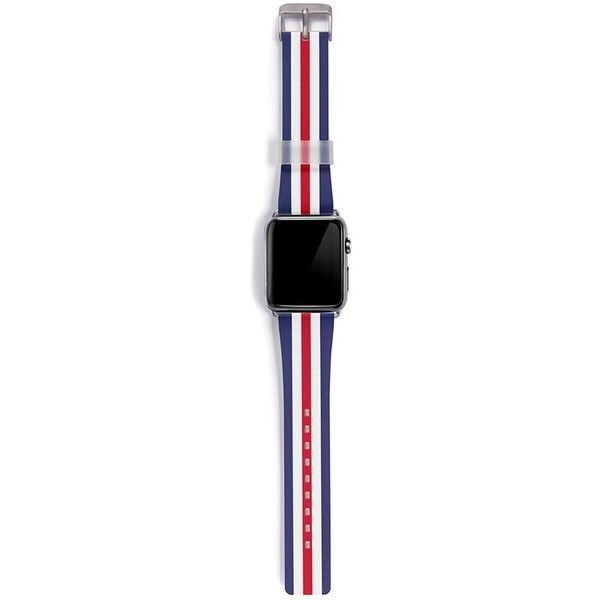 Casetify Classic England 42mm Apple Watch bracelet (€76) ❤ liked on Polyvore featuring jewelry, bracelets and union jack jewelry