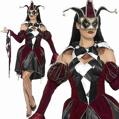 #Gothic harlequin costume #ladies adult venetian evil #jester halloween fancy dre View  sc 1 st  Pinterest & Gothic harlequin costume #ladies adult venetian evil #jester ...