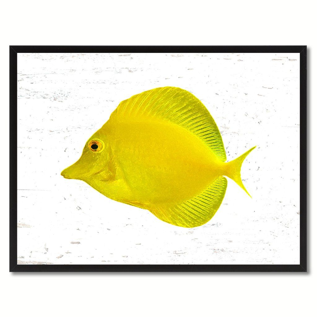 Yellow Tropical Fish Painting Reproduction Gifts Home Decor Wall Art ...
