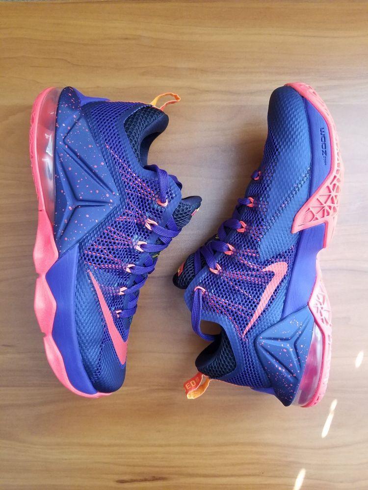 superior quality 50edc f4111 Nike Lebron 12 XII Low Mens Size 8 Court Purple Bright ...