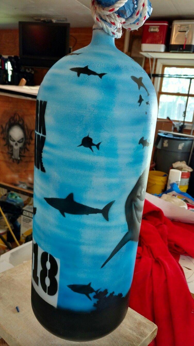 Scuba tank art my shark tank scubadivinggearimages