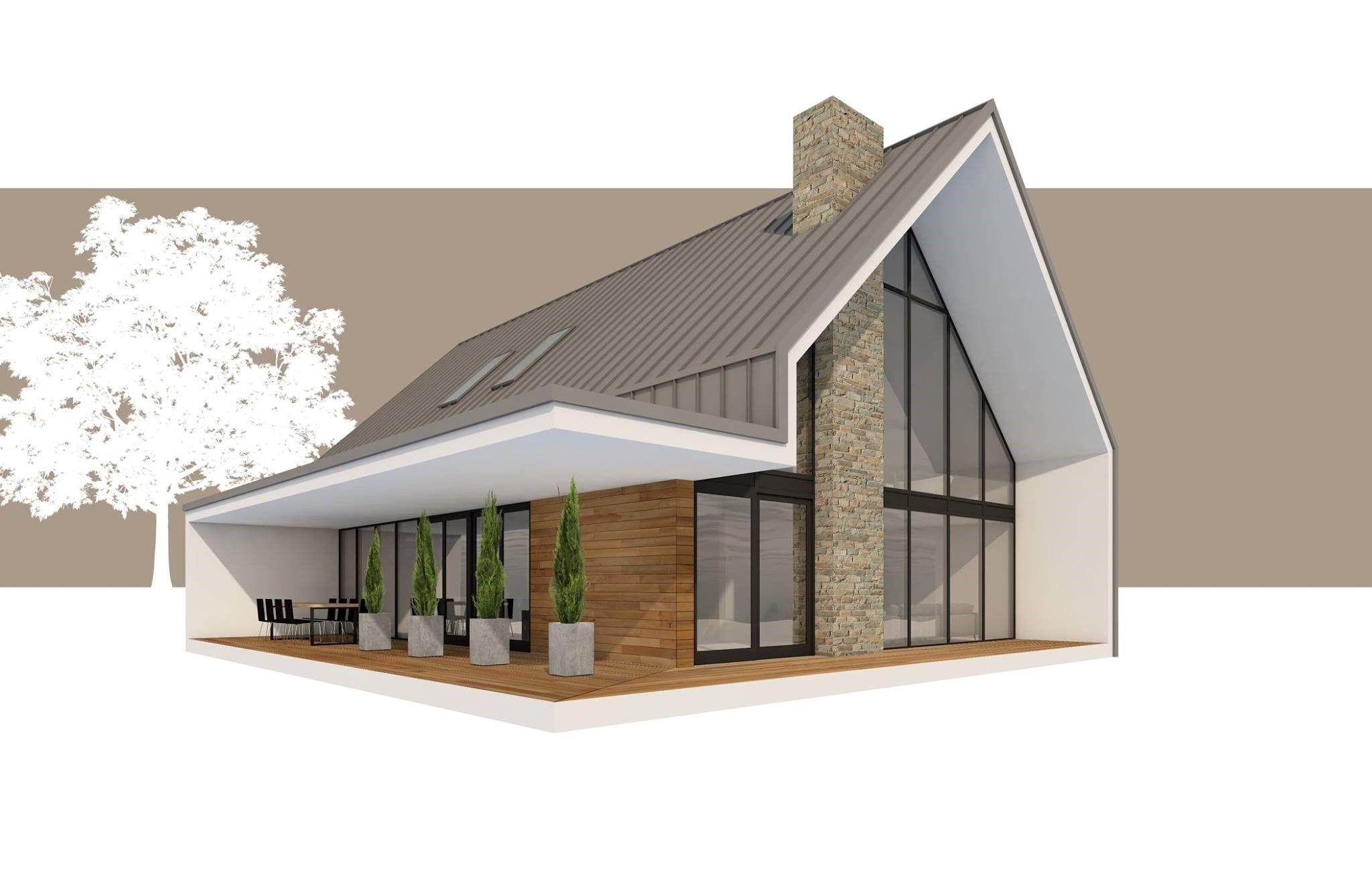 Maison mansarde moderne ventana blog - Forme de toiture maison ...