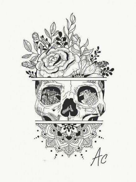 Photo of 18 Ideas tattoo mandala skull
