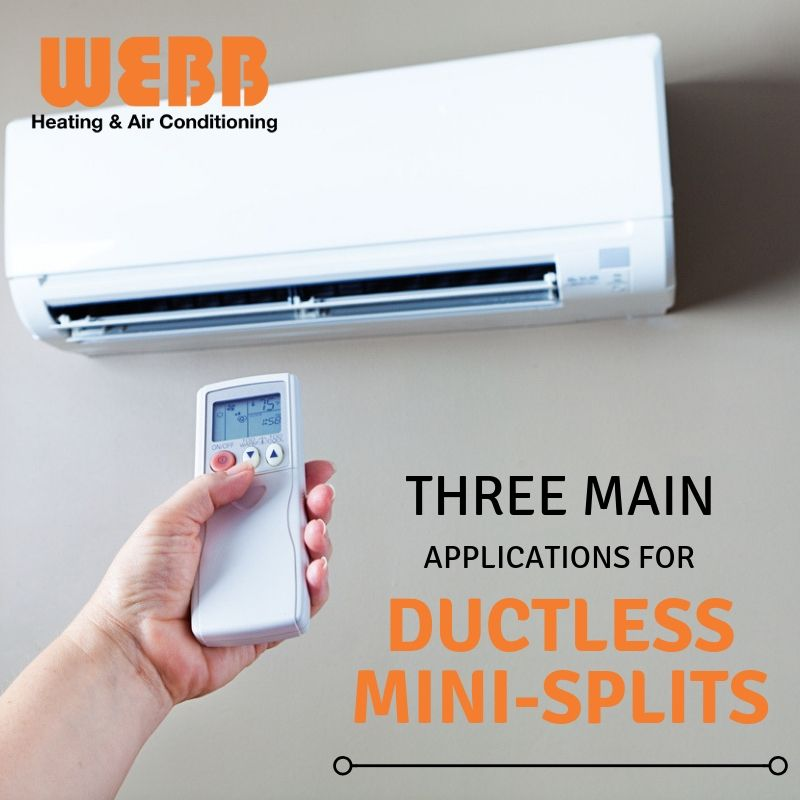 Three Main Applications for Ductless MiniSplits