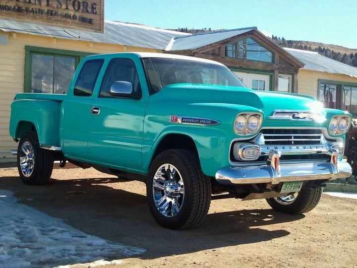 Could It Be A Modern Day Chevy Truck With An Old Body Style In This Absolutely Beautiful Shade Of Blue Give Me Now Trucks Cool Trucks Chevy Trucks