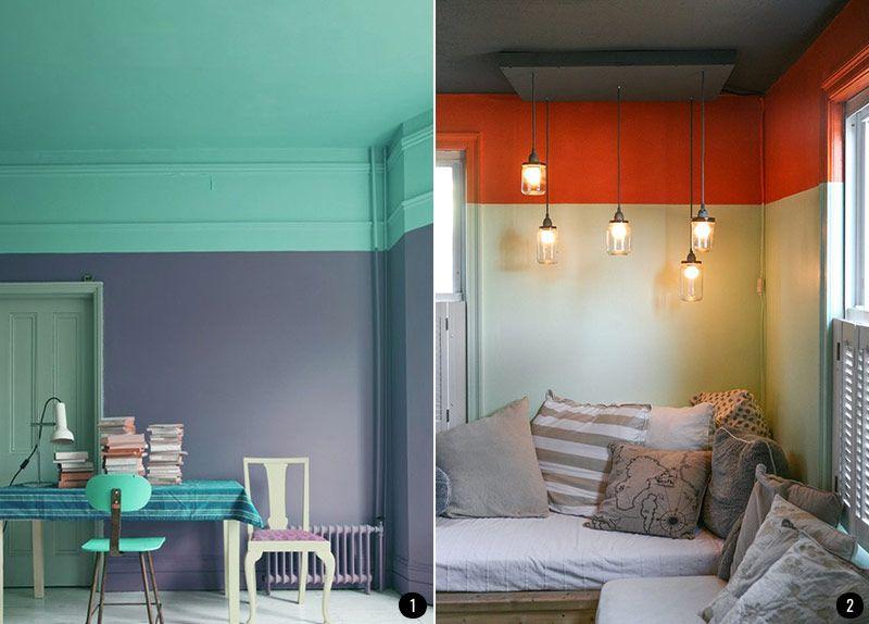 Pintar el salón en dos colores aporta personalidad y carácter a esa ...