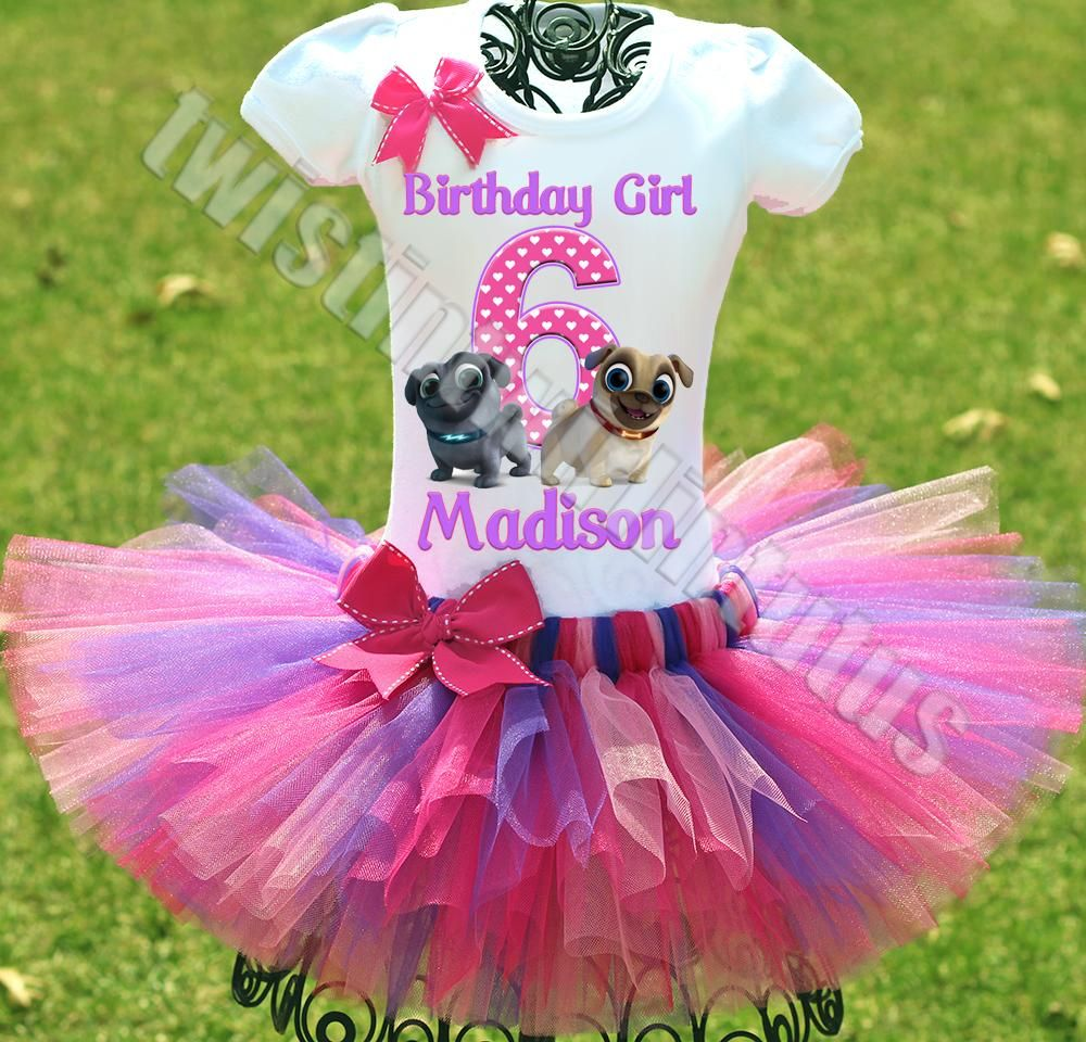 Puppy Dog Pals Birthday Tutu Outfit Puppy Birthday Parties Girls Birthday Party Birthday Tutu Outfit