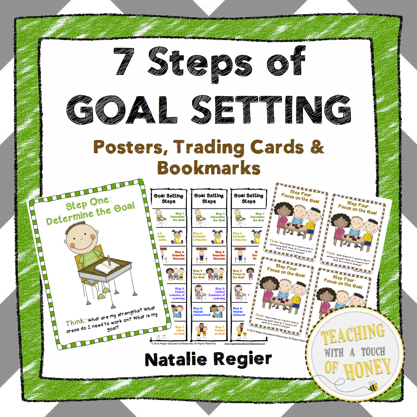 Get Your Free Copy Of 7 Steps Of Goal Setting Posters