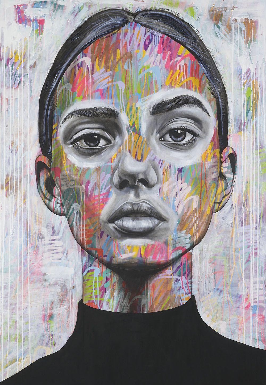 Antcarver spray paint and oil paint portraits