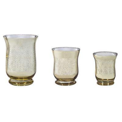 Evergreen Enterprises, Inc 3 Piece Glass Votive Set