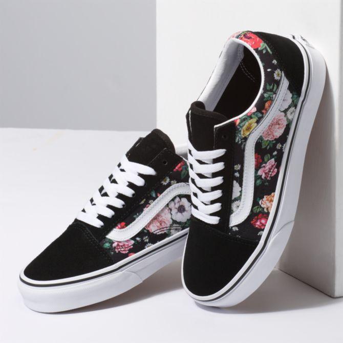 Garden Floral Old Skool Vans Vans Shoes Women Women Shoes Vans Shoes