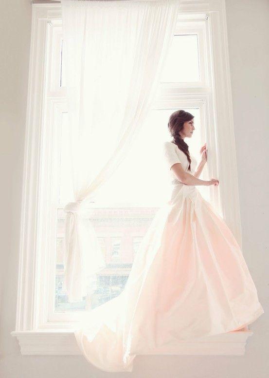 Ethereal wedding dresses tumblr long pink
