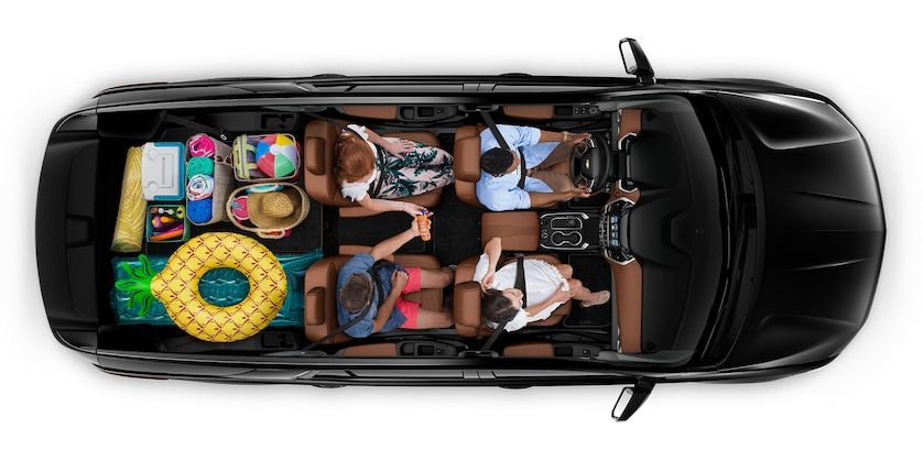 2019 Traverse Mid Size SUV Cargo beach trip (With images