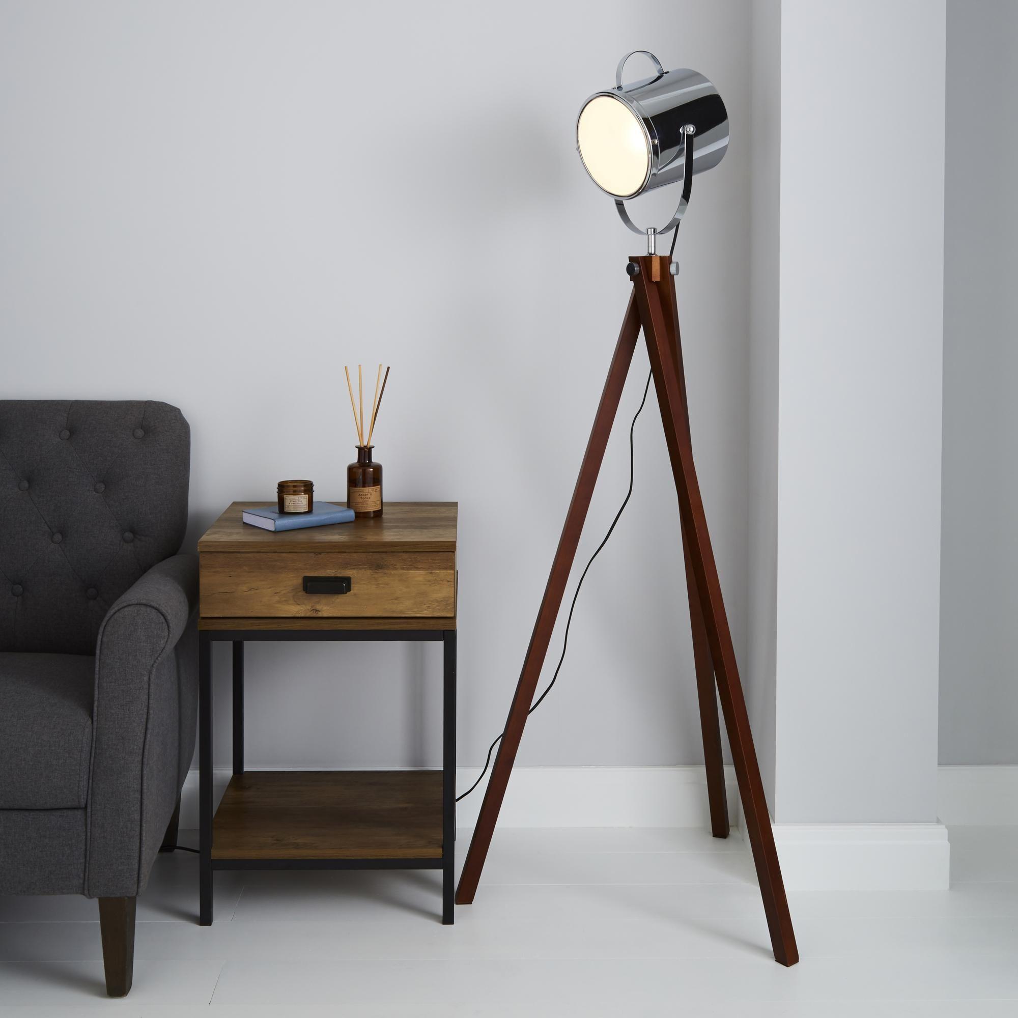 Carlton Camera Floor Lamp In 2020 Silver Floor Lamp Floor Lamp