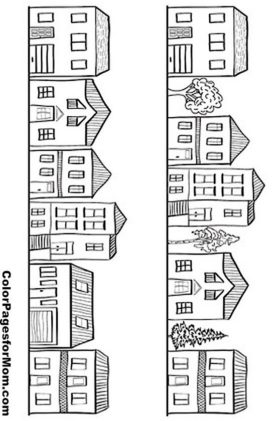House Drawing Color: House Colouring Pages, Coloring