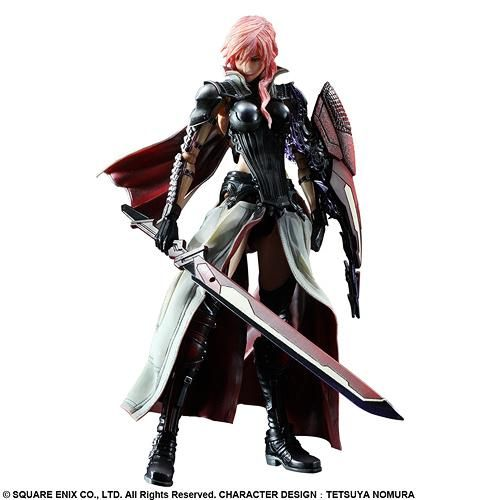 CDJapan : LIGHTNING RETURNS: Final Fantasy XIII Play Arts Kai Lightning Figure/Doll Collectible