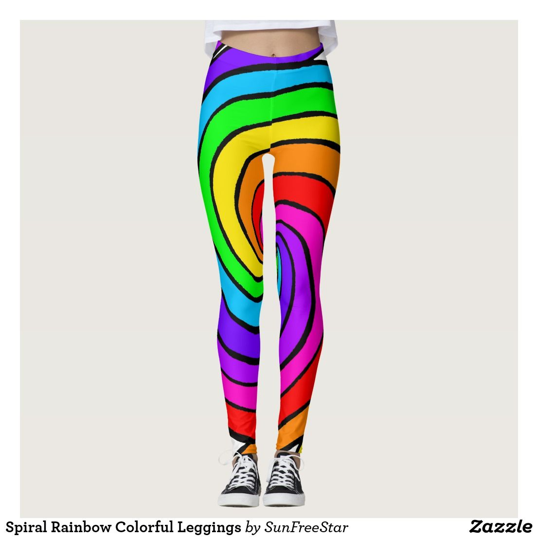 493f26cb4197d Do you want to become a Rainbow and spread joy everywhere you go? Try these Spiral  Rainbow Colorful Leggings.