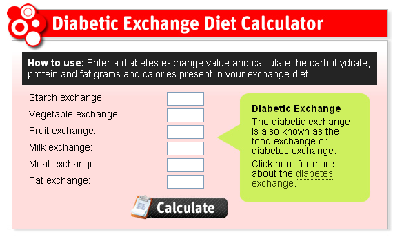 The Food Exchange Calculator Analyses The Carbohydrates Proteins