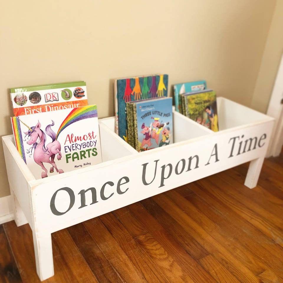 Handmade Kid's Book Caddy Book Holder in 2020 Book