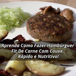 Bateu aquela vontade de comer hambúrguer! Que tal uma opção magrinha e muito nutritiva? Aprenda agora como fazer hambúrguer Fit de carne com couve.