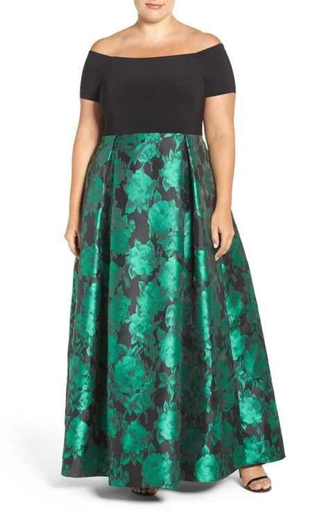 Alex Evenings Off the Shoulder A-Line Gown (Plus Size) | giyim ...