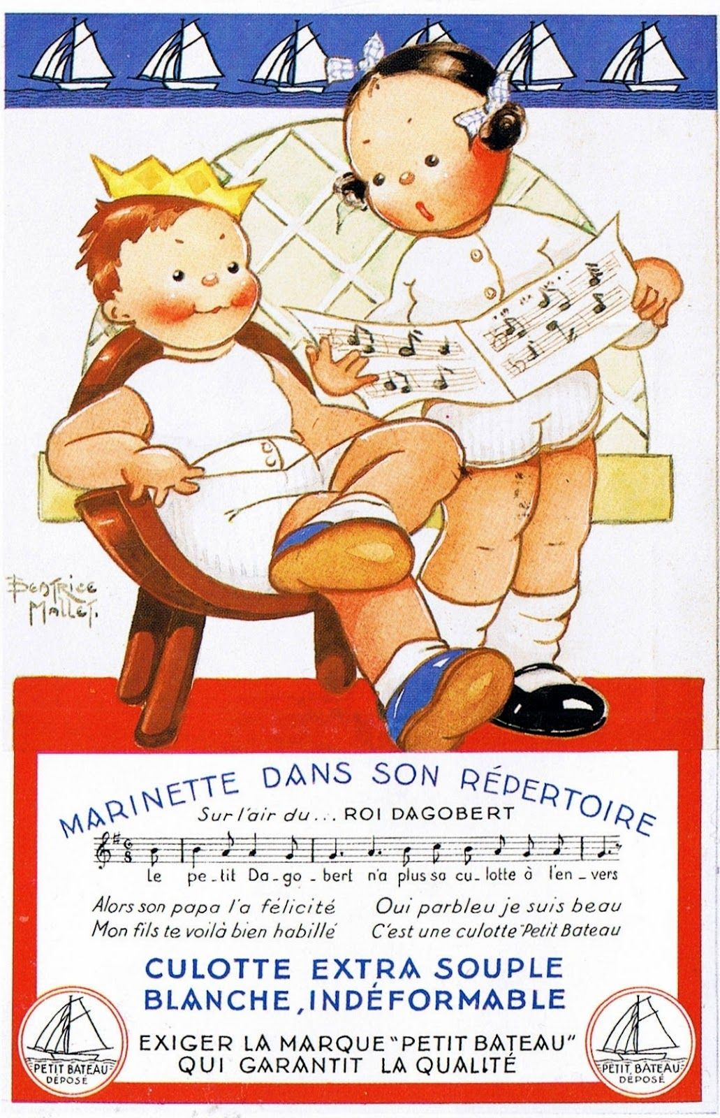 Pin By Kay E Brown On Pub Petit Bateau Etc Childrens Drawings Vintage Advertising Posters Vintage Advertisements