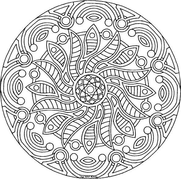 Detailed Coloring Pages For Adults Mandala Flower