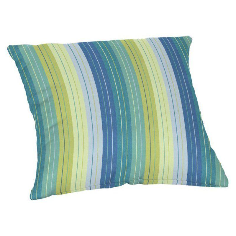 Casual Cushion 20 in. Sunbrella Throw Pillow in Seville