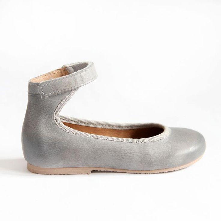 b6efc225e0d9 Bisgaard Sko grey girls leather ballerina