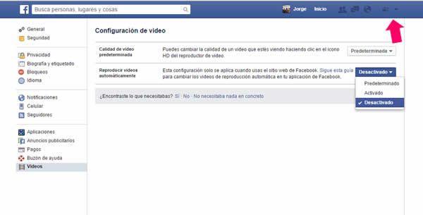 Para muchos internautas es muy incómodo la reproducción automática de videos en Facebook y para solucionar este problema debes seguir los siguientes pasos: