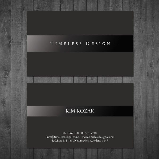 Create an elegant business card for my new interior design ...