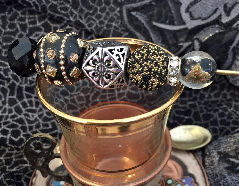 Black Gold Silver Cigar Pick, Cigar Stick, Cigar Nub Holder by SandysCigarBling on Etsy