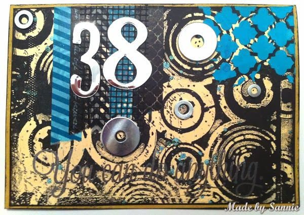 Created by Sandra Mouwen for the Simon Says Stamp Monday challenge (it's a Mystery) November 2013
