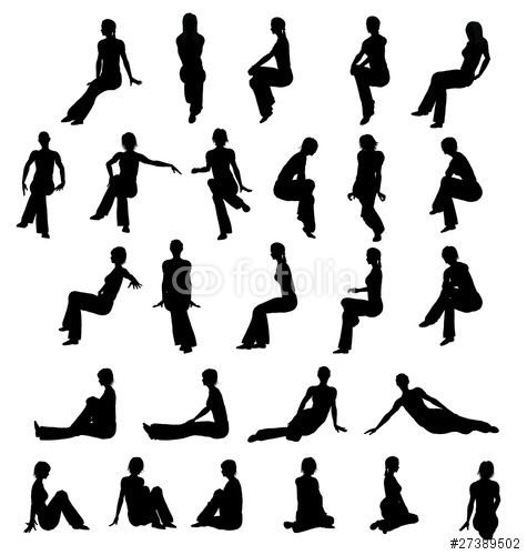 Foto Persone Sedute.Donne Sedute Woman Silhouette Silhouette Royalty Free Images