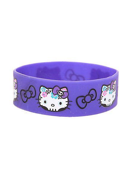 Hello Kitty Sugar Skull Rubber Bracelet | Hot Topic