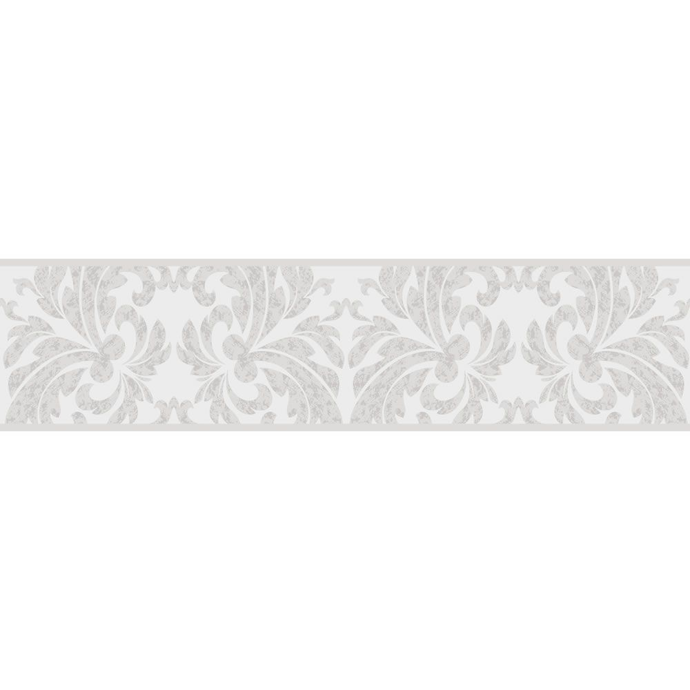 Fine Decor Damask Wallpaper Border Black Silver 5mx17 5cm Best