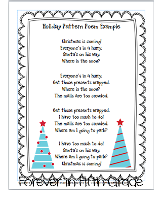 Review Sentence Types By Writing These Holiday Pattern Poems One